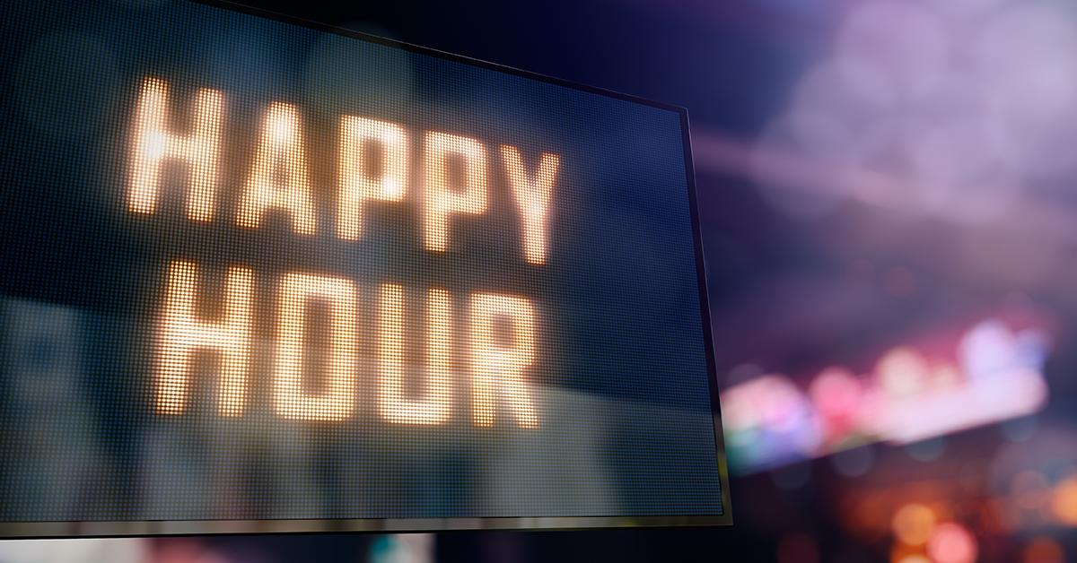 Happy hour med stengt drap!